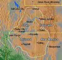Map of the Colorado Plateau [Image: USGS Southwest Biological Science Center]