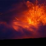 Eruption of Hawaiian Volcano