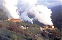 Geothermal power plant near Santa Rosa, California. <br>[Photo: U.S. Geological Survey]
