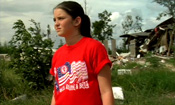 Girl after Hurricane Katrina