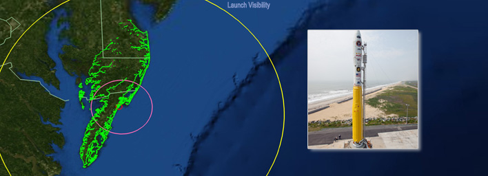 Launch Visibility Chart for ORS-1