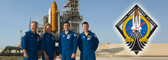 STS-135 crew arrives in Florida