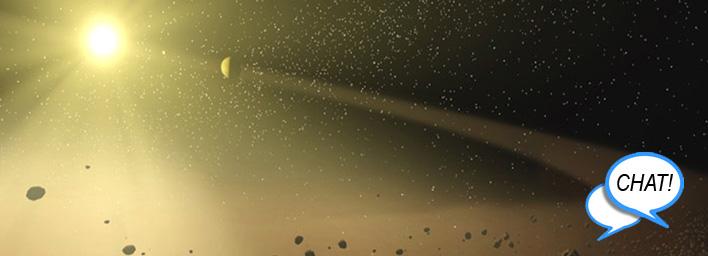 Artist Concept for Asteroids Orbiting a Star