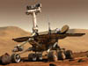 Artist's concept of the Mars Rovers Spirit and Opportunity