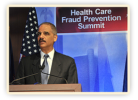 U.S. Attorney General Eric Holder Speaking at the Health Care Fraud Prevention Summit.