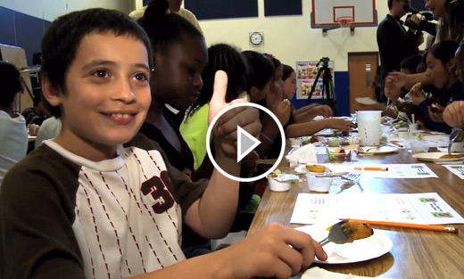 VIDEO: The U.S. Department of Agriculture is taste-testing healthy options for school meals, as part of a new effort to improve nutrition.