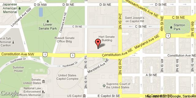 Google map of the Dirksen Senate Office Building