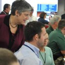 Photo: Washington, D.C., August 28, 2012 --  Department of Homeland Security Secretary Janet Napolitano visits the National Response Coordination Center (NRCC) at FEMA Headquarters.