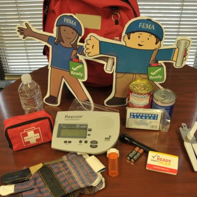Photo: Flat Stanley & Stella want you to stock your family emergency kit like theirs as part of National Preparedness Month. They've got important items like canned food, a can opener, weather radio, first aid kit, extra prescription medications, and of course...their flashlights!