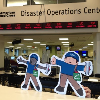 Photo: FEMA Flat Stanley and Flat Stella visit the American Red Cross Disaster Operations Center in Washington, D.C. to learn how they help people during and after a disaster. Read about their adventure at http://www.fema.gov/blog/2012-09-06/our-visit-american-red-cross.   Read more about FEMA's voluntary organization partners at www.nvoad.org.