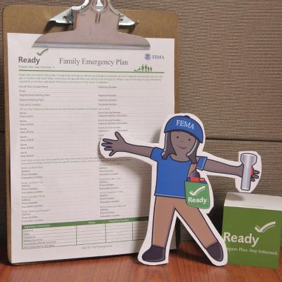 Photo: FEMA Flat Stella wants you to make a communication plan with your family during National Preparedness Month. This communication plan should include important information, like how to stay in touch if your cell phones don't work. Your family should also decide where your emergency meeting spot will be.  Find more tips on making your plan at www.Ready.gov/make-a-plan.