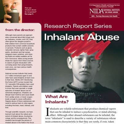 Photo: We recently updated our research report on inhalant abuse. Learn more about the potential health consequences and hazards here: http://1.usa.gov/RCIv7t