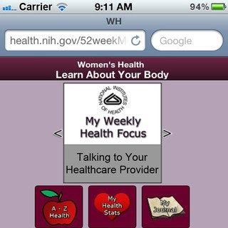 Photo: A Primer for Women's Health: Get the app. Follow the blog. Learn how to improve your health in 52 weeks!  http://52weeks4women.nih.gov