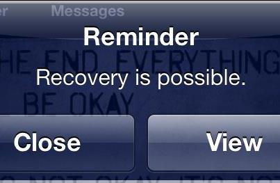 Photo: Recovery is possible.  Click 'Share' to pass it on.