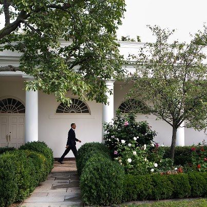 Photo: Photo of the Day: President Obama walks along the Colonnade of the White House en route to the Diplomatic Reception Room to deliver a statement on Tropical Storm Isaac on August 28, 2012. (Official White House Photo by Lawrence Jackson) Check out more photos at http://wh.gov/photos