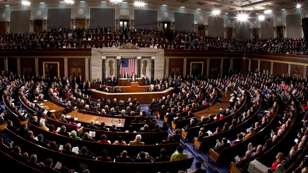 El Presidente Obama pronuncia el discurso sobre el Estado de la Nación en el Capitolio estadounidense el 25 de enero, 2011