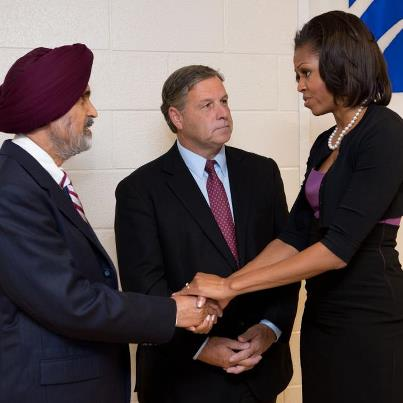 """Photo: Yesterday, First Lady Michelle Obama offered condolences to victims and family members of the Wisconsin Sikh temple shooting. """"It's my honor to be here with you,"""" Mrs. Obama told the families. http://1.usa.gov/O9ZvNa"""