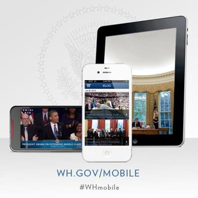 Photo: Check out the Official White House app for iPhone, iPad and Android. The White House app brings you the latest from 1600 Pennsylvania Ave, including news, photos and videos, plus live streams of events with President Obama: http://wh.gov/mobile