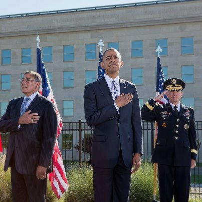 """Photo: """"The true legacy of 9/11 will not be one of fear or hate or division. It will be a safer world; a stronger nation; and a people more united than ever before."""" –President Obama during the September 11th Observance Ceremony at the Pentagon Memorial, Sept. 11, 2012: http://wh.gov/WrlO"""