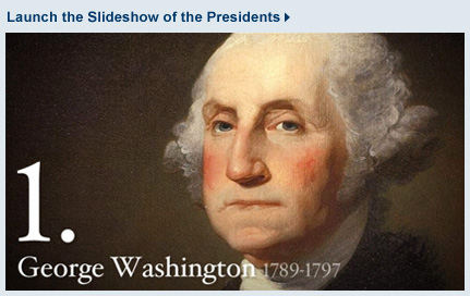 Launch the slideshow of the presidents