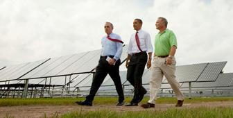 President Obama Tours a Solar Facility