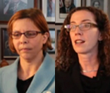 Photo of Drs. Angela Mariotto and Robin Yabroff