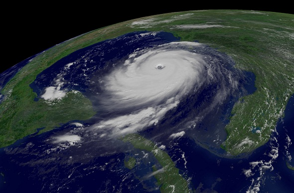 image of Hurricane katrina from space.