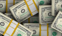 Bundles of paper money