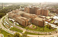 aerial view of the Clinical Research Center in Bethesda, Maryland