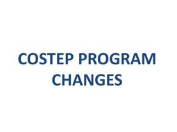 COSTEP Program Changes