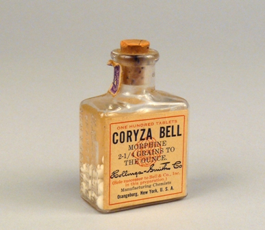 Coryza Bell morphine tablets, Hollings-Smith Co.
