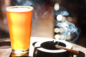 beer and cigarette
