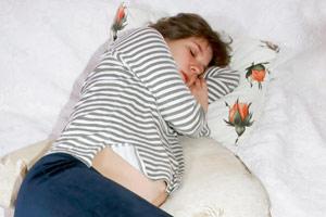 pregnant woman sleeping