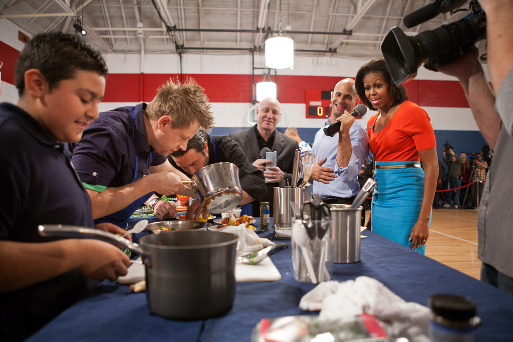 First Lady Michelle Obama at a Top Chef event