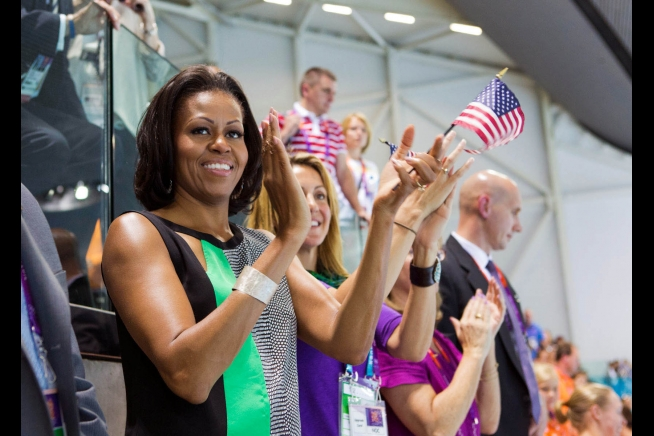 First Lady Michelle Obama at the Olympcs