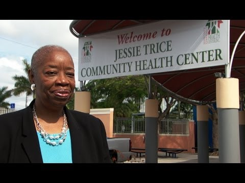 Image: Annie talks about the importance of Community Health Centers and preventive care.