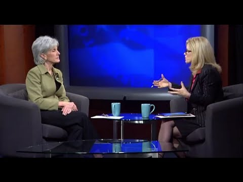 Image: Secretary Sebelius holds a video townhall on women's health with iVillage.com.