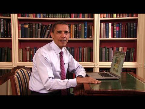 Image: President Obama explains some of HealthCare.gov's best features.