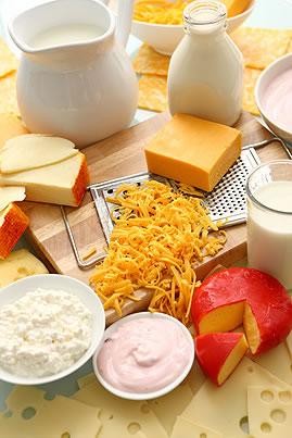 surtido de productos lácteos