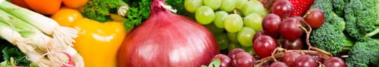 Photo of colorful fruits and vegetables