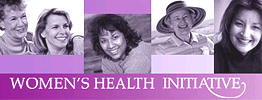 A montage of images of women's faces and the words Women's Health Initiative