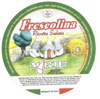 Package of Frescolina brand ricotta salata cheese