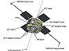RBSP spacecraft with EMFISIS instruments labeled.