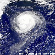Photograph of a hurricane