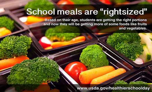 Check out the School Day Just Got Healthier Toolkit with brochures, fact sheets, FAQs, fliers, school lessons, templates & more to help prepare everyone for the changes to school meals this school year.
