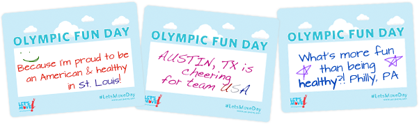 Olympic Fun Day Participant Sheet Examples