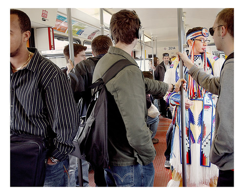 November is Native American Heritage Month  The above photo by Terrance Houle was presented in the exhibition HIDE: Skin as Material and Metaphor at The National Museum of the American Indian George Gustav Heye Center in New York City.