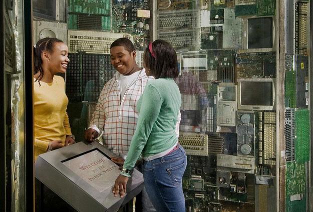 students exploring the Public Vaults