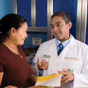 Dr. Olveen Carrasquillo and study participant.