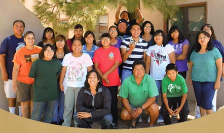 photo of youth and adults in the San Felipe Pueblo Circles of Care program